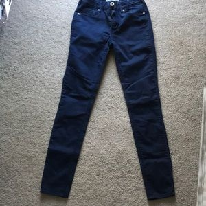Size 3 Dark blue bull head high-rise skinny jeans